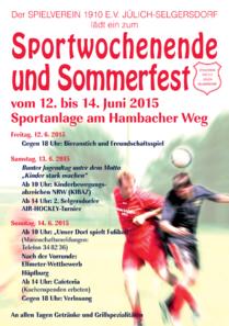Sportwochende und Sommerfest 2015